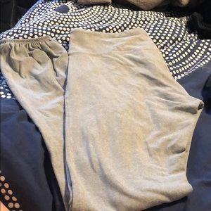 Splits 59 grey ankle legging with elastic bottom